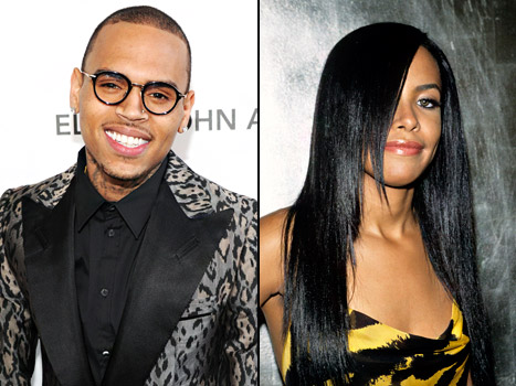 Chris Brown and Aaliyah