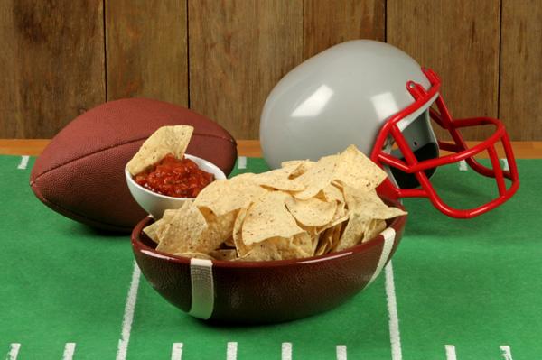 football-salsa-chips