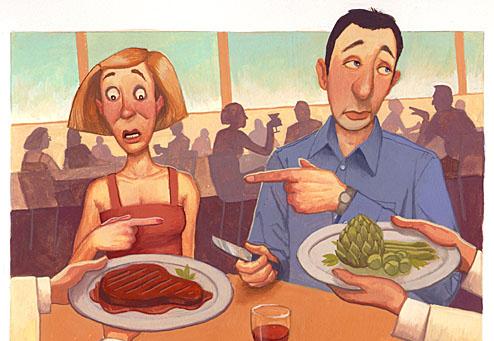vegetarian vs meat eater