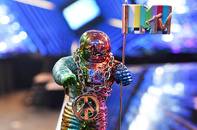 LOS ANGELES, CA - AUGUST 27:  The 2015 MTV VMA Moonman Award is seen during the press day for the 2015 MTV Video Music Awards at Microsoft Theater on August 27, 2015 in Los Angeles, California.  (Photo by Kevin Winter/MTV1415/Getty Images For MTV)